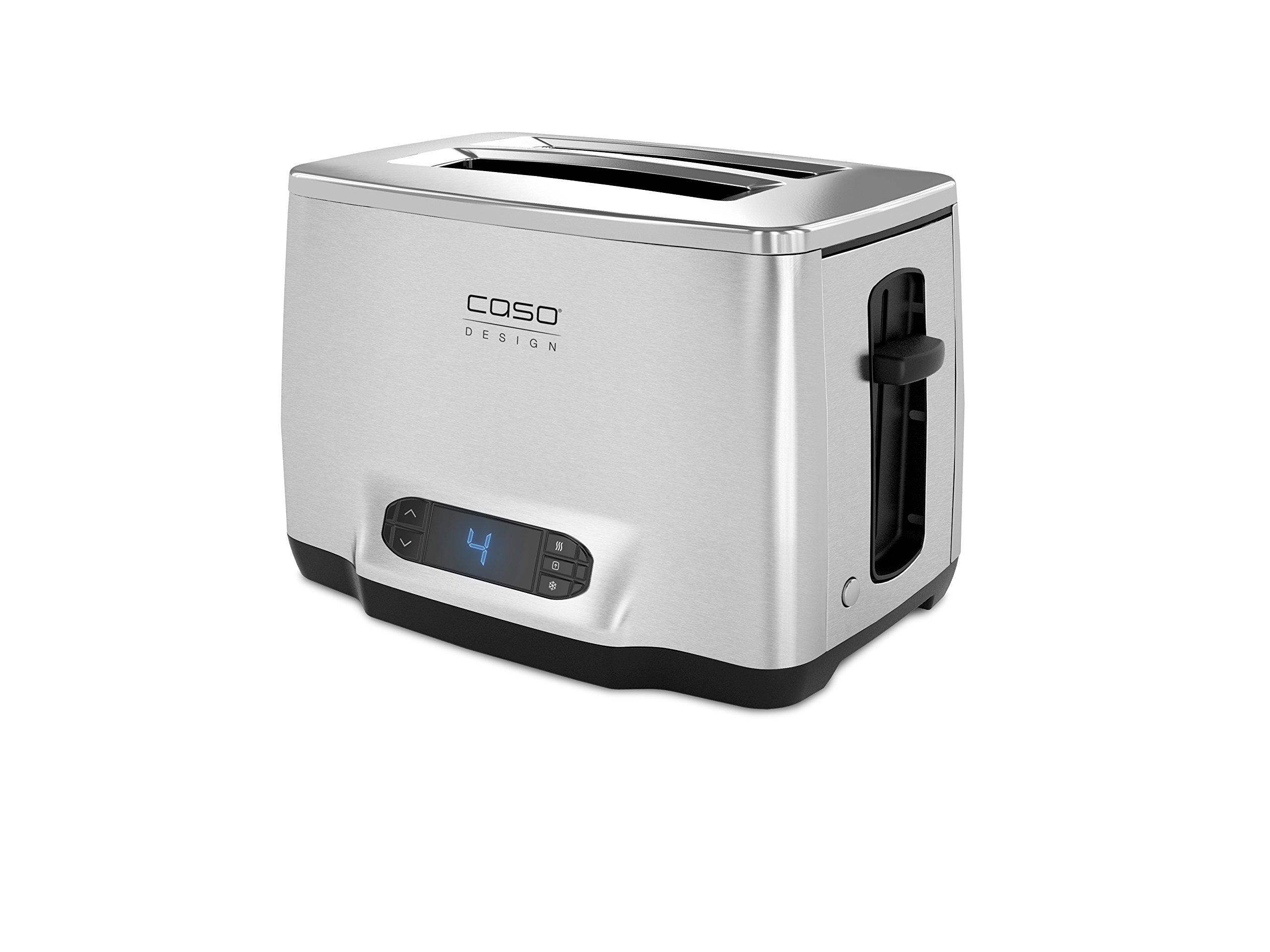Caso-Inox-Design-Toaster-aus-hochwertigem-Edelstahl-Toastautomatik-extra-groes-LCD-Display-silber