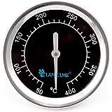 Lantelme 5831 Grillthermometer Black 400 Series aus Edelstahl. Analog und Bimetall