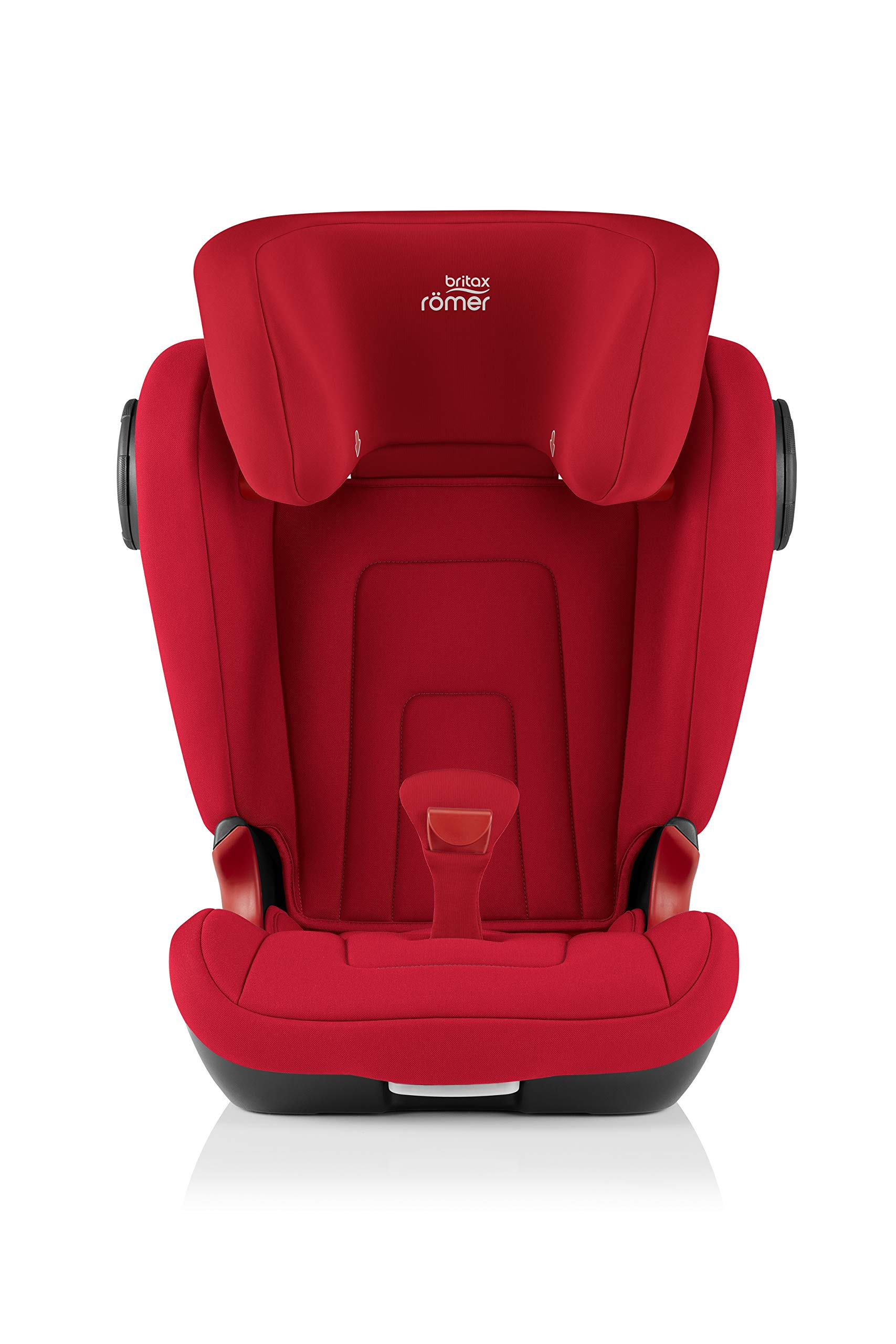 Britax Römer KIDFIX² S Group 2-3 (15-36kg) Car Seat - Fire Red Britax Römer Advanced side impact protection - sict offers superior protection to your child in the event of a side collision. reducing impact forces by minimising the distance between the car and the car seat. Secure guard - helps to protect your child's delicate abdominal area by adding an extra - a 4th - contact point to the 3-point seat belt. High back booster - protects your child in 3 ways: provides head to hip protection; belt guides provide correct positioning of the seat belt and the padded headrest provides safety and comfort. 2