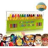 GiBot 16 Couleur visage peinture des crayons de visage et de corps sûrs et non-toxiques Crayons Maquillage pour Enfants, Easy
