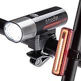 Cycleafer® Luz Bicicleta Recargable USB, GARANTÍA DE 3 años, Luz LED Bicicleta para Carretera y Montaña ,Linterna Bicicleta