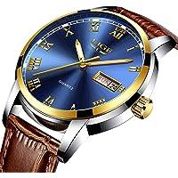 pour Homme en Acier Inoxydable Classique de Luxe décontracté Montres avec chronographe Sport Montres étanche 30m Entreprise Mode Montre à Quartz pour Hommes