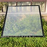 SUREH 2 x 1 m Waterdicht Clear Tarpaulin met Oogjes Luifels en Tarps Heavy Duty Clear Weerbestendig Tarp Opvouwbare Plant Lui