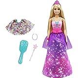 Barbie Dreamtopia 2in1 da Principessa a Sirena, Bambola Bionda, con 3 Outfit e Accessori, Giocattolo per Bambini 3+Anni,GTF9