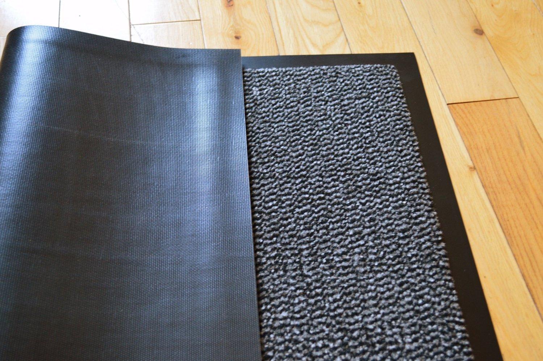 BARRIER MAT LARGE GREY /BLACK DOOR MAT RUBBER BACKED MEDIUM RUNNER BARRIER  MATS RUG PVC EDGED HEAVY DUTY KITCHEN MAT(90 X 150 CM): Amazon.co.uk:  Kitchen U0026 ...