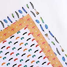 Assorted Gift Wrapping Paper Sheets Pack of 6