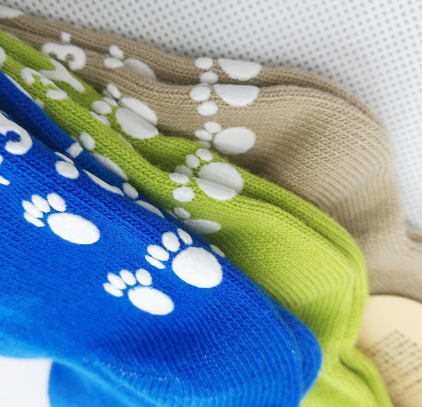 TUKA Calcetines Antideslizantes Unisex para bebés 1 a 3 años, ABS Calcetines para niños niñas, no-de la resbalón de… 3