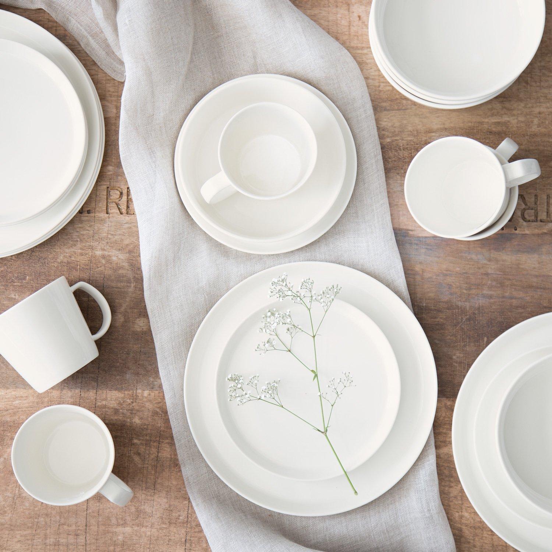 Porzellan Geschirrset Svea | Hochwertiges rundes Geschirr-Set in ...