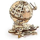 UGEARS 3D di Legno Rotante Modellini da Costruire Puzzle per Adulti-Globo Meccanico, 70128