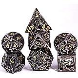 Schleuder D&D Dadi Set, 7 Poliedrici Dice da Gioco per Dungeons&Dragons, Set Dadi Metallo Vuoto Forma di Drago, Dadi da Gioco