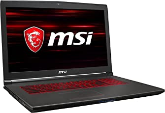 MSI GV72 8RE-048 43,9 cm (17,3 Zoll) Gaming-Laptop (Intel Core i7-8750H, 16GB RAM, 256GB SSD, 1TB HDD, Nvidia GeForce GTX 1060, Windows 10 Home) Schwarz