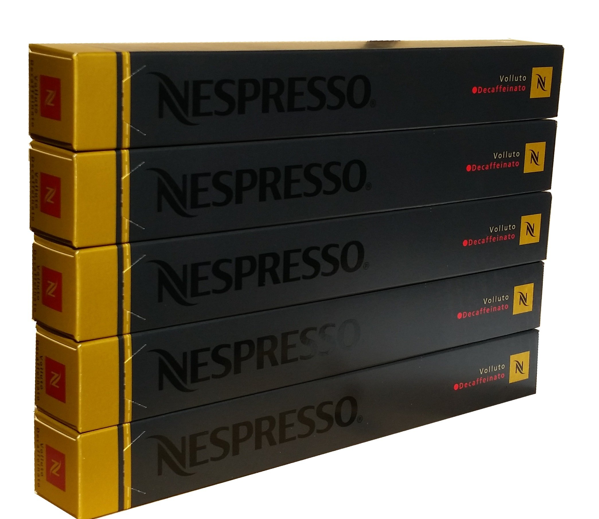Nespresso Original Decaffeinato coffee pods and capsules (a balanced flavour, biscuity notes, fruit notes coffee with aromas of fresh fruit and petals, nutty)