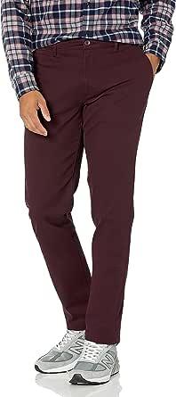 Amazon Essentials Pantalon extensible pour homme Coupe ajustée Treillis