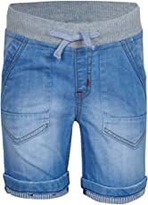 SUPERYOUNG Super Young Shorts for Boys - Western Wear Bermudas for Kids - Denim Blue Shorts for Boys - Denim Material Shorts with Side Pockets - Stylish Shorts for Boys