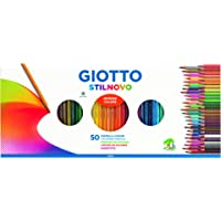 Giotto Stilnovo 257300 Lot de 50 Crayons de Couleur