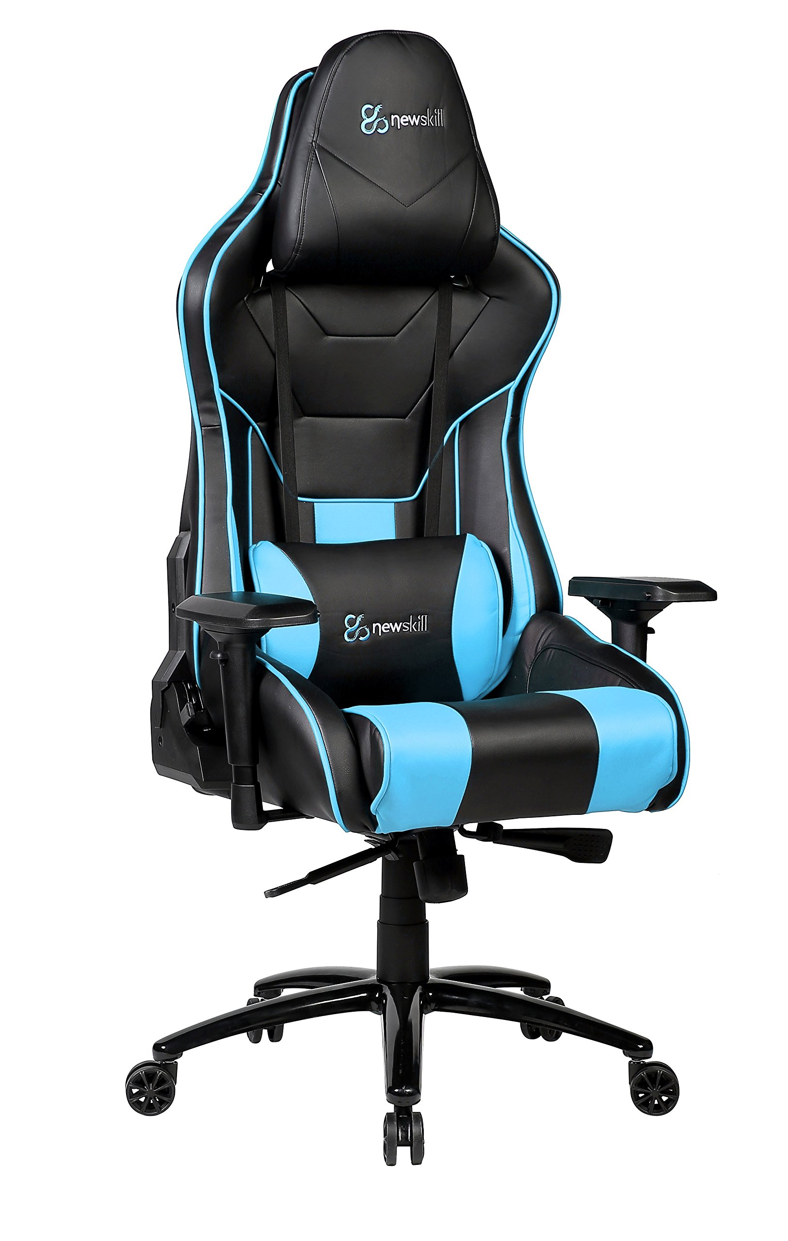 Newskill Kuraokami – Silla Gaming Profesional (Inclinación y Altura Regulable, reposabrazos Ajustable, reclinable 180º), Color Azul