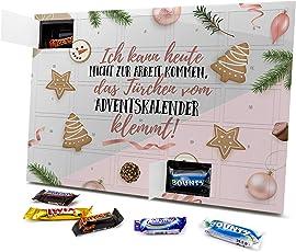 printplanet - Adventskalender mit Sprüchen - Verschiedene Ausführungen - Design Weihnachtskalender, Schoko-Adventskalender mit Spruch