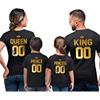 Famille T-Shirts Roi Reine Prince Princesse King Queen Prince Princess Maman Papa Fils Fille Tenues Assorties