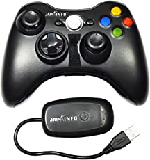Jain Info™ Branded Wireless Controller for X-box 360/PC (With Receiver) - - Compatible with X-box 360 Arcade, S & E/PC/Laptops (Only For Windows Based Systems). Generic