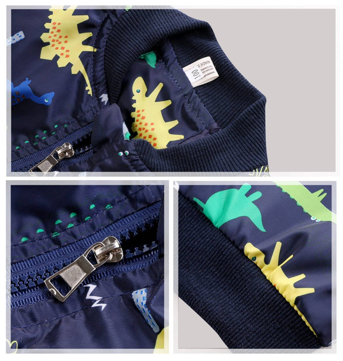 HARVEY JIA - Chaqueta Corto Niño Niña Otoño Primavera con Estampado Dinosaurio Transpirable Suave Abrigo Niña Bebé… 4