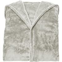 Amazon Basics Couverture polaire avec manches et poche pour les pieds, 150X180cm, Gris
