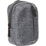 Amazon Basics – Funda para cámara con bolsillo frontal con cremallera, de poliéster de calidad, impermeable, gris ceniza