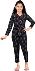 Red RinG Girls Cotton Top and Pant Night Suit by