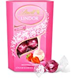 Lindt Lindor Strawberries and Cream Chocolate Truffles Box - Approximately 16 Balls, 200 g - The Ideal Gift - Chocolate…