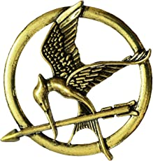 B-fashionable Women's Metal Hunger Games Mockingjay Arrow Brooch (Gold)