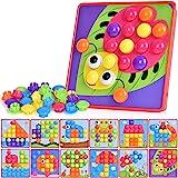 Ulikey Mosaico Infantiles de Fichas, Tablero de Mosaico Infantiles, Juguete Educativo de Primera Infancia para Niños y Niñas
