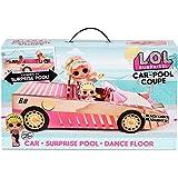 LOL Surprise Car-Pool Coupe met exclusieve pop. Inclusief een veel gekleurde auto, Verassingszwembad, dansvloer met magie, fe