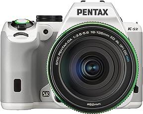 Pentax K-S2 Spiegelreflexkamera (20 Megapixel, 7,6 cm (3 Zoll) LCD-Display, Full-HD-Video, Wi-Fi, GPS, NFC, HDMI, USB 2.0) Kit inkl. 18-135mm WR-Objektiv weiß