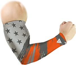 Le Gear Star Series Arm Sleeves (Steel Grey and Orange, Free Size)