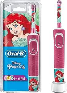 Oral-B Kids - Spazzolino elettrico Princess con tecnologia Braun, modelli assortiti, 1 unità