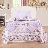 Alicemall Couvre lit patchwork Courtepointe couverture lit Couvre lit boutis Courtepointe boutis Couette léger été en coton 1