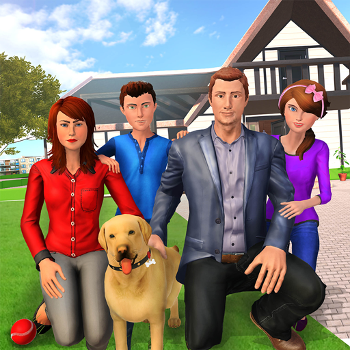 Virtuelles Familienhundehaus-Abenteuer