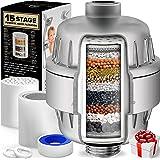 AquaHomeGroup 15 fasen douchefilter met vitamine C voor hard water - hoge output douchewaterfilter om chloor en fluoride te v