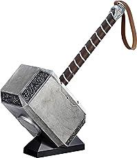 Avengers Marvel Legends Series Mjolnir Electronic Hammer, Gray (17.81cm)