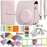 Revefilms, Funda y Accesorios compatibles con instax Mini 11 Rosa. Incluye, Funda y Correa a Juego, Album para 108 Fotos, Pin