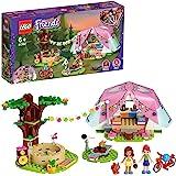 LEGO 41392 Friends Glamping in de natuur Buitenavontuur Set met Mini Poppetjes Olivia en Mia, Speelgoed voor Kinderen vanaf 6
