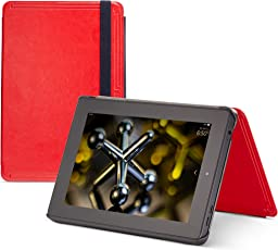 MarBlue Slim Tech Hülle für Fire HD 7 (4. Generation - 2014 Modell), Rot