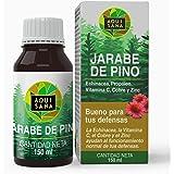 Jarabe de Pino - Aquisana   Jarabe con Equinacea + Propóleo +Vitaminas   Ayuda a reducir la Tos-libre de alérgenos - (150 ML)