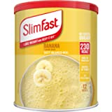 SlimFast Meal Shake, Banana Flavour, New Recipe, 12 Servings, Lose Weight and Keep It Off, Packaging May Vary