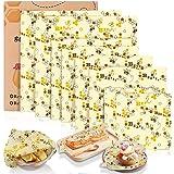 Tonsooze Emballage Cire d'abeille, Emballage Alimentaire Réutilisable et Écologique Emballages en Coton Biologique, Sacs…