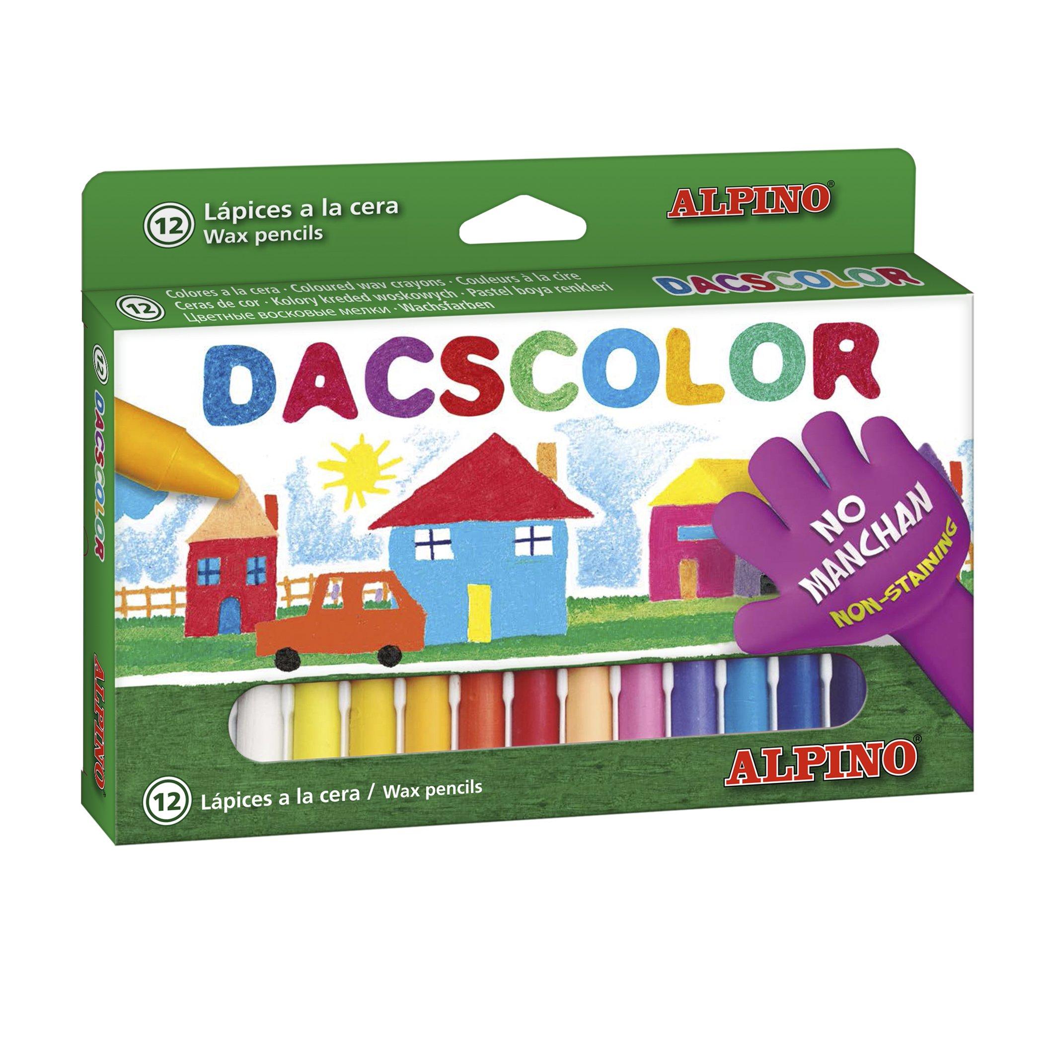 DacsAlpino DC050290 – Estuche 12 ceras, Multicolor