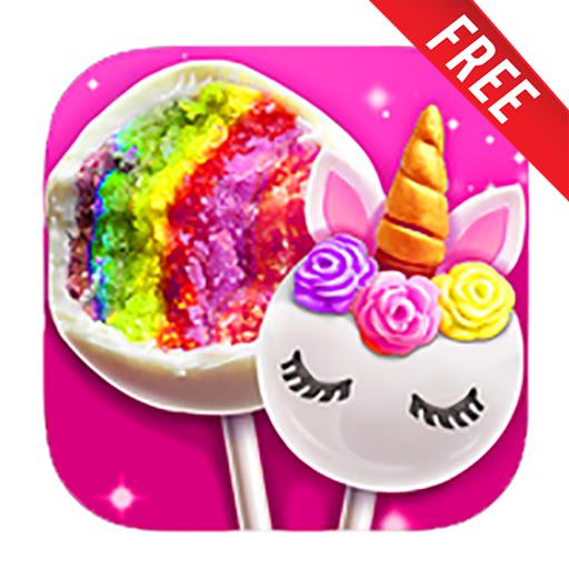 Cake Unicorn Pop Maker - Sweet Fashion Desserts Game