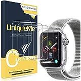 UniqueMe [6 Pack] Compatible con Apple Watch 42mm Series 1/2/3 Protector de Pantalla de TPU, [Caso amistoso] [Película Flexib