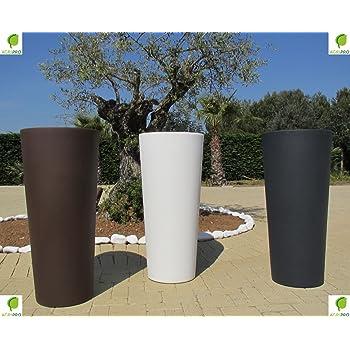genesis pot de fleurs en r sine avec cache pot rond et haut hauteur 100 cm largeur 45 cm. Black Bedroom Furniture Sets. Home Design Ideas
