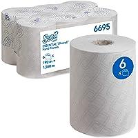 Essuie-mains roulés Scott Essential Slimroll 6695 - Essuie-mains roulés en papier - 6 x rouleaux d'essuie-mains en…