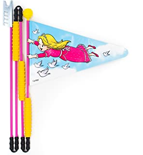 Foldable flag pole with a safety height of 5.2 feet SET of 2 Premium CYCLEY premium bike safety flags